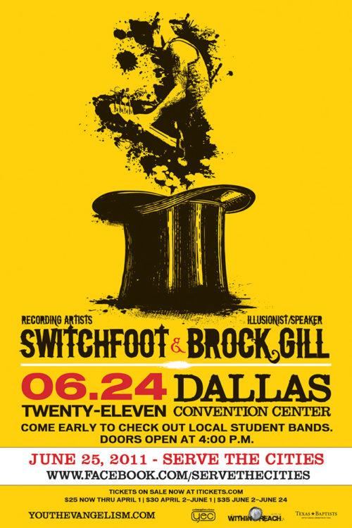Texas Baptists Youth Evangelism Concert Poster
